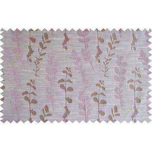 Pink brown matisse polycotton main curtain designs