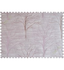 Pink tree polycotton main curtain designs