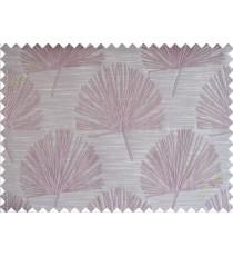 Pink brown annapurna floral poly main curtain designs
