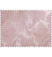 Pink brown big motif poly main curtain designs