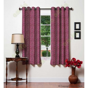 Pink brown vertical weave polycotton main curtain designs