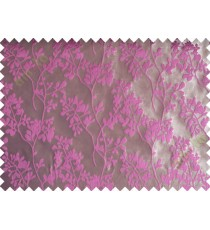 Pink brown mantisse polycotton main curtain designs