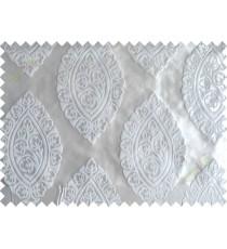 Grey silver motif poly main curtain designs