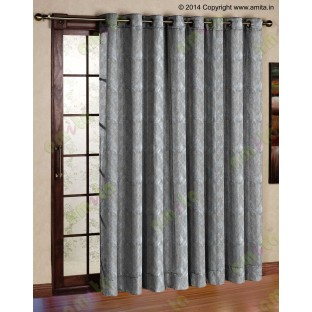Grey silver mantisse polycotton main curtain designs