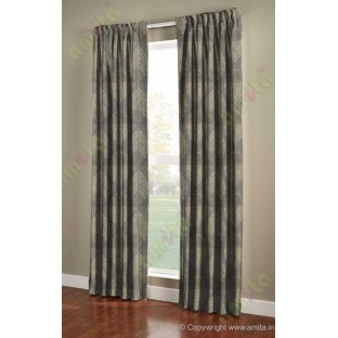 Grey green motif poly main curtain designs