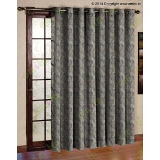 Grey green mantisse polycotton main curtain designs