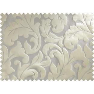 Grey green big motif poly main curtain designs