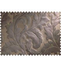 Brown beige big motif poly main curtain designs