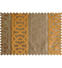 Yellow brown vertical weave polycotton main curtain designs