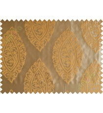 Yellow brown motif poly main curtain designs