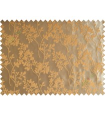 Yellow brown mantisse polycotton main curtain designs