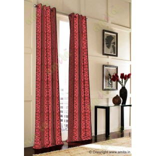 Brown red vertical weave polycotton main curtain designs