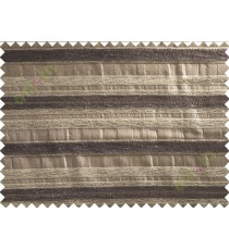 Chocolate brown beige colour soft horizontal stripes poly sofa fabric