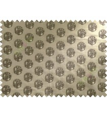 Chocolate brown beige color big texture polka dots poly sofa fabric