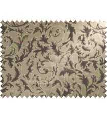 Chocolate brown beige color texture damask poly sofa fabric