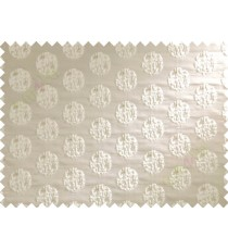 Beige cream color big texture polka dots poly sofa fabric