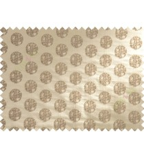 Brown beige color big texture polka dots poly sofa fabric