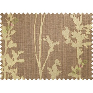 Brown hanging plant poly main curtain designs