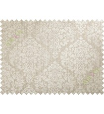 Beige damask poly main curtain designs