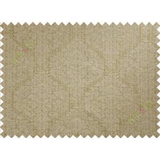 Brown green damask poly main curtain designs