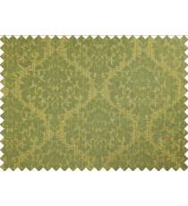 Green yellow damask poly main curtain designs