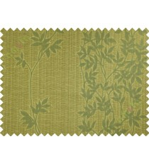 Yellow green floral poly main curtain designs