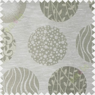 Beige green geometric polycotton main curtain designs