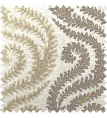 Brown beige serpentine stripes poly main curtain designs