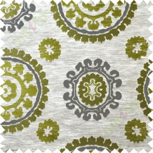 Green grey quatrefoil poly main curtain designs