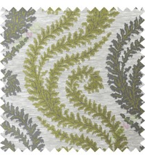 Green grey serpentine stripes poly main curtain designs