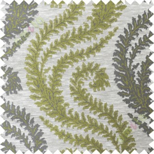 Green grey serpentine stripes poly main curtain designs