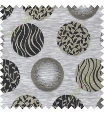 Black grey geometric polycotton main curtain designs