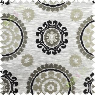 Black grey quatrefoil poly main curtain designs
