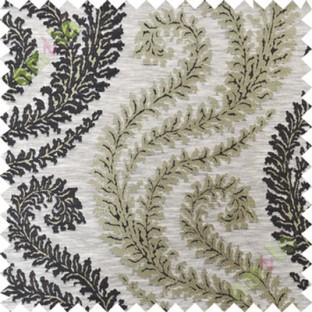 Black grey serpentine stripes poly main curtain designs