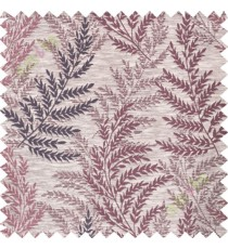 Maroon purple leafy polycotton main curtain designs
