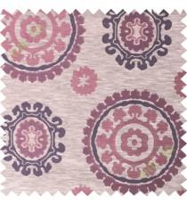 Maroon purple quatrefoil poly main curtain designs