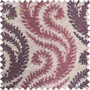 Maroon purple serpentine stripes poly main curtain designs