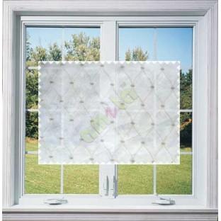 Dark Brown Emb Safavieh Moroccan Pattern with Transparent Background Polycotton Sheer Curtain-Designs