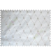 Dark Brown Emb Safavieh Moroccan Pattern Polycotton Main Curtain-Designs