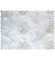 Pure White Silver Gold Geometric Emb Design Design Polycotton Main Curtain-Designs