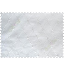 Pure White Emb Safavieh Moroccan Pattern with Transparent Background Polycotton Sheer Curtain-Designs