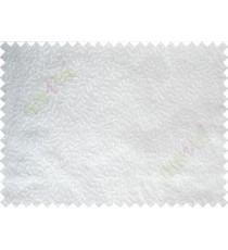 Pure White Color Vine Creeper Pattern Polycotton Main Curtain-Designs