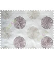 Pure White Purple Gold Color Geometric Emb Design Design Polycotton Main Curtain-Designs