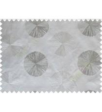 Grey Silver Color Geometric Emb Design Design Polycotton Main Curtain-Designs