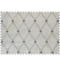 Beige Purple Emb Safavieh Moroccan Pattern with Transparent Background Polycotton Sheer Curtain-Designs