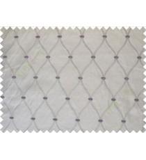 Beige Purple Emb Safavieh Moroccan Pattern Polycotton Main Curtain-Designs