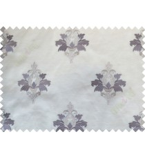 Beige Purple Natural Dew Drops on Floral Pattern with Transparent Background Polycotton Sheer Curtain-Designs