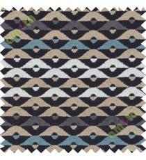Black grey white aztec polycotton sofa sofa upholstery