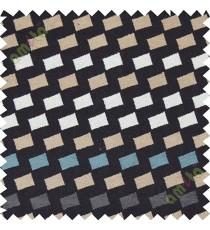 Black white square shapes polycotton sofa sofa upholstery fabric
