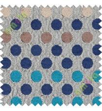 Blue brown small geometric sofa sofa upholstery fabric